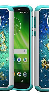 cheap -Case For Motorola MOTO G6 / Moto G6 Play / Moto E5 Play Shockproof / Rhinestone / Pattern Back Cover Butterfly / Rhinestone Hard PC