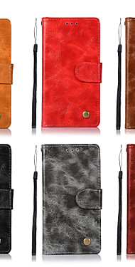 cheap -Case For Motorola Moto Z3 Play / Moto Z2 play / Moto Z Force Wallet / Card Holder / with Stand Full Body Cases Solid Colored Hard PU Leather
