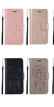 cheap -Case For HTC HTC U11 Wallet / Card Holder / with Stand Full Body Cases Owl Hard PU Leather