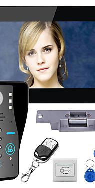 povoljno -ožičeni 7 inčni handsfree uređaj jedan na jedan video domofon zvonca 960 * 480 interfon sustav kompleta električni štrajk zaključavanje bežični daljinski upravljač otključavanje daljinski upravljač za