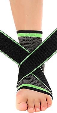 ราคาถูก -Ankle Sleeve สำหรับ วิ่ง การออกกำลังกาย Non-Slip ความยืดหยุ่น ไนลอน 1 ชิ้น สวมใส่ทุกวัน Athleisure สีเขียว