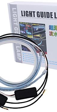 povoljno -2pcs rgb 60cm teče fleksibilni led drl sekvencijalni pokazivač smjera svjetlo waterproo traka svjetla dnevna svjetla daljinsko upravljanje