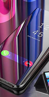 cheap -Case For Xiaomi Xiaomi Mi 9T / Xiaomi Mi 9T Pro / Redmi K20 Pro Mirror / Flip / Auto Sleep / Wake Up Full Body Cases Solid Colored Hard PC