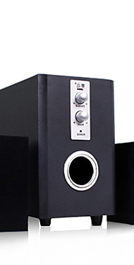 cheap -Wooden USB Wired Speakers Surround Desktop Multi Media Subwoofer Stereo Heavy Bass for PC Computer