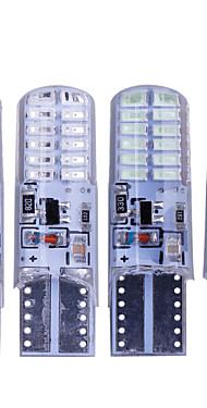 povoljno -10pcs t10 w5w vodio strobe flash silikonski gel svjetlo 194 168 3014 24led vodio treptati žarulja žarulja svjetla 12v 2 model svjetla \ t