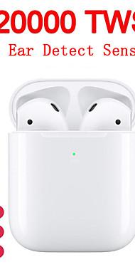 povoljno -originalne i20000 tws prave bežične ušice u uređaju za prepoznavanje uvuka takta kontrola bežične qi punjenja automatski prepoznavanje uha i zaustavljanje pop-up bluetooth 5.0 super bas slušalica