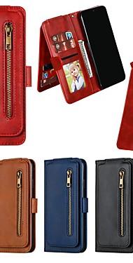 cheap -Case For  Xiaomi Mi CC9e / Mi 9T Pro / Redmi Note 8 Pro Wallet / Card Holder / Shockproof Full Body Cases Solid Colored PU Leather Case For  Redmi Note 7 Pro / Redmi 8A / Redmi 7A