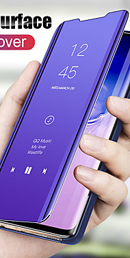 cheap -Mirror View Smart Flip Case For Xiaomi Redmi Note 9 Pro Max Note 8T Note 8 Pro Redmi 8 8A Redmi 7 7A K30 Pro K20 Pro Mi 10 Pro Mi Note 10 Pro Mi 9T Pro Mi 9 SE Mi CC9 Pro Mi CC9e Protection Cover