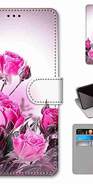 cheap -Case For LG Q70 / LG K50S / LG K40S Wallet / Card Holder / with Stand Full Body Cases Wild Rose PU Leather / TPU for LG K30 2019 / LG K20 2019