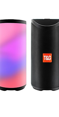 cheap -T&G TG168 Bluetooth Speaker Portable Outdoor Loudspeaker Wireless Column 3D Stereo Music Surround With FM Waterproof LED Flash Light