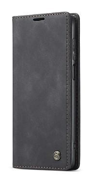 cheap -Caseme Case For Xiaomi Redmi Note 9 Pro / Redmi Note 9 Pro Max / Redmi Note 9S Wallet / Card Holder / Flip Full Body Cases Solid Colored TPU