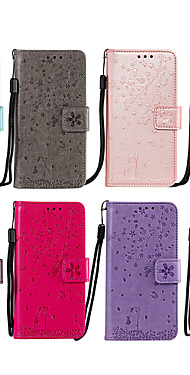 cheap -Case For Nokia Nokia 2.2 Card Holder / Flip / Pattern Full Body Cases Cat / Heart / Flower PU Leather / TPU