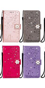 cheap -Case For Xiaomi  Redmi NOTE7 K20 K2OPRO 8A NOTE9PRO K30 note8 NOTE8 PRO miCC9E CC9 9lite Card Holder Flip Pattern Full Body Cases cat sakura flower animal diamonds PU Leather TPU