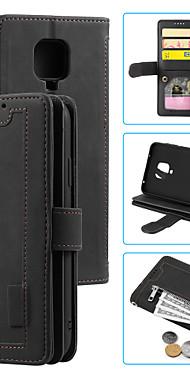 cheap -Case For  Xiaomi Redmi K30 K30I 5G NOTE9PRO MAX 9S K30PRO ZOOM MI 10 LITE 5G NOTE10 LITE NOTE 9 REDMI 10X 5G 10X 4G  9 Card Holder Shockproof Flip Full Body Cases Solid Colored PU Leather TPU zipper