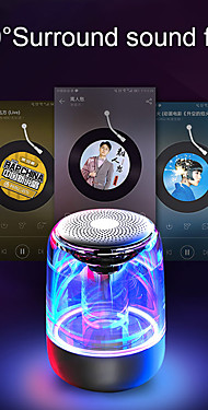 cheap -C7 Transparent crystal Bluetooth Speaker Colorful Atmosphere Light Bluetooth Speaker Portable Music Audio Stereo Sound Speaker