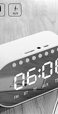 cheap -LED Alarm Clock Radio Digital Clock Wireless Bluetooth Speakers Support Dual Alarm Clock/ FM Radio/ AUX-in/ TF Card/ Flash Drive