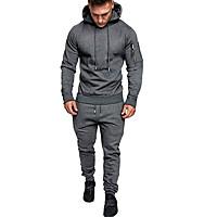 Men's 2-Piece Drawstring Tracksuit Sweatsuit (various colors/sizes)