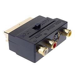 cheap -YongWei Scart to Composite 3RCA S-Video AV TV Audio Adapter
