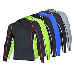 ราคาถูก -Arsuxeo สำหรับผู้ชาย ครูเน็ค เสื้อยืดรัดรูป Elastane โยคะ ฟิตเนส Racing เสื้อยึด ชั้นฐาน การบีบอัดสูท ขนาดพิเศษ แขนยาว ชุดทำงาน ระบายอากาศ แห้งเร็ว Ultraviolet Resistant Static-free การบีบอัด