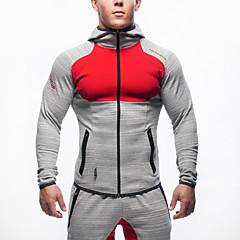 ราคาถูก -สำหรับผู้ชาย ลายต่อ useless ลายตัวอักษร ฝ้าย วิ่ง การออกกำลังกาย ยิมออกกำลังกาย Hoodie Sweatshirt Tops แขนยาว ชุดทำงาน ระบายอากาศ สบาย