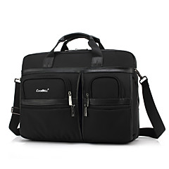 """cheap -Coolbell 17"""" Laptop Shoulder Messenger Bag Textile Solid Color for Business Office for Colleages & Schools for Travel Shock Proof"""