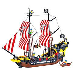 ราคาถูก -ENLIGHTEN Building Blocks Model Building Kits Pirate เรือ โจรสลัด มุกสีดำ ที่เข้ากันได้ Legoing Toy ของขวัญ