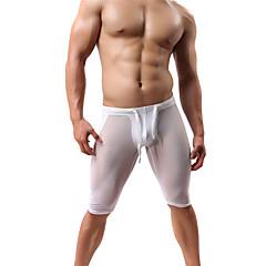 ราคาถูก -สำหรับผู้ชาย useless ทำงานภายใต้กางเกงขาสั้น ตารางไขว้ See Through สายผูก กีฬา กางเกงขาสั้น ด้านล่าง วิ่ง เดินเท้า การออกกำลังกาย วิ่งออกกำลังกาย ยิมออกกำลังกาย ระบายอากาศ แห้งเร็ว Moisture / ยืด