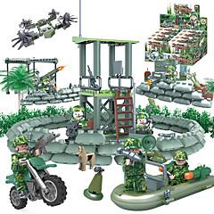 ราคาถูก -GUDI Building Blocks บล็อกทางทหาร Block Minifigures 318 pcs Soldier / Warrior Military ถัง Fighter ที่เข้ากันได้ Legoing Camouflage DIY ทุกเพศ เด็กผู้ชาย เด็กผู้หญิง Toy ของขวัญ / ของเล่นการศึกษา