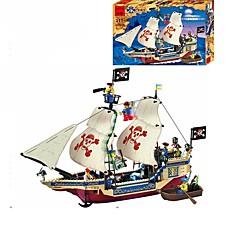 ราคาถูก -ENLIGHTEN Building Blocks ของเล่นชุดก่อสร้าง ของเล่นการศึกษา Pirate เรือ โจรสลัด เด็กผู้ชาย เด็กผู้หญิง Toy ของขวัญ