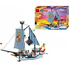 ราคาถูก -ENLIGHTEN Building Blocks ของเล่นชุดก่อสร้าง ของเล่นการศึกษา 310 pcs Pirate เรือ โจรสลัด เรือโจรสลัด เด็กผู้ชาย เด็กผู้หญิง Toy ของขวัญ