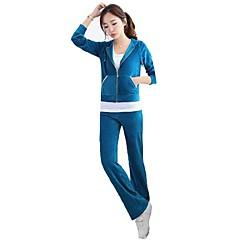 ราคาถูก -สำหรับผู้หญิง บาน streetwear Velour useless ฤดูหนาว โยคะ วิ่ง Pilates กีฬา Lightweight Warm ระบายอากาศได้ สวมใส่ได้ ซึ่งยืดหยุ่น Tracksuit ฤดูหนาวแจ็คเก็ตขนแกะ ชุดออกกำลังกาย แขนยาว ชุดทำงาน ยืด