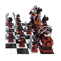 ราคาถูก -AUSINI Building Blocks เกมหมากรุก 1142 pcs ผู้คน ที่เข้ากันได้ Legoing DIY เด็กผู้ชาย Toy ของขวัญ