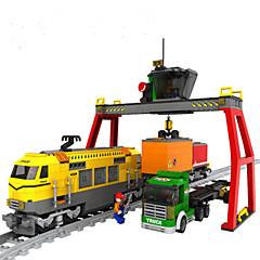ราคาถูก -AUSINI Building Blocks ของเล่นชุดก่อสร้าง ของเล่นการศึกษา 792 pcs มีชีวิต ยานพาหนะ Train ที่เข้ากันได้ Legoing คลาสสิกและถาวร เก๋ไก๋และทันสมัย แฟชั่น รถไฟ เด็กผู้ชาย เด็กผู้หญิง Toy ของขวัญ