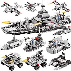 ราคาถูก -BEIQI Building Blocks ของเล่นชุดก่อสร้าง ของเล่นการศึกษา 472 pcs Military เรือรบ Aircraft ที่เข้ากันได้ Legoing ดีไซน์มาใหม่ DIY 6 in 1 คลาสสิก เก๋ไก๋และทันสมัย เรือ เด็กผู้ชาย เด็กผู้หญิง Toy ของขวัญ