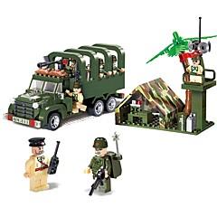 ราคาถูก -ENLIGHTEN Building Blocks ของเล่นชุดก่อสร้าง ของเล่นการศึกษา 308 pcs ยานพาหนะ Military รถบรรทุก ที่เข้ากันได้ Legoing Non Toxic รถยนต์ รถบรรทุก รถทหาร เด็กผู้ชาย เด็กผู้หญิง Toy ของขวัญ