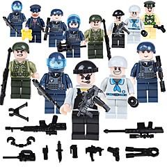 ราคาถูก -Building Blocks บล็อกทางทหาร ของเล่นชุดก่อสร้าง 19 pcs ผู้คน ทหาร ที่เข้ากันได้ Legoing โรงเรียน ความเครียดและความวิตกกังวลบรรเทา ปฏิสัมพันธ์ระหว่างพ่อแม่และลูก คลาสสิก ภาพคน / ของเล่นการศึกษา
