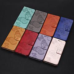 ราคาถูก -Case สำหรับ Apple iPhone X / iPhone 8 Plus / iPhone 8 Card Holder / with Stand / Flip ตัวกระเป๋าเต็ม Butterfly Hard หนัง PU