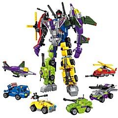 ราคาถูก -Building Blocks ของเล่นชุดก่อสร้าง ของเล่นการศึกษา 506 pcs รถยนต์ เฮลิคอปเตอร์ Robot ที่เข้ากันได้ Legoing transformable เด็กผู้ชาย เด็กผู้หญิง Toy ของขวัญ