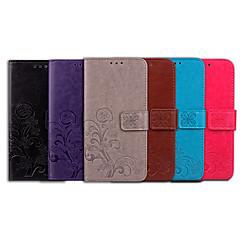 ราคาถูก -Case สำหรับ Apple iPhone 6s / iPhone 6 Card Holder / Flip ตัวกระเป๋าเต็ม สีพื้น / Mandala Soft หนัง PU