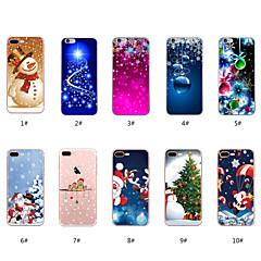ราคาถูก -Case สำหรับ Apple iPhone X / iPhone 8 Plus / iPhone 8 Pattern ปกหลัง คริสมาสต์ Soft TPU