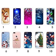 ราคาถูก -Case สำหรับ Apple iPhone XS / iPhone XR / iPhone XS Max Ultra-thin / Transparent / Pattern ปกหลัง คริสมาสต์ Soft TPU