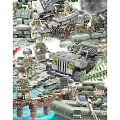 ราคาถูก -Building Blocks Block Minifigures ของเล่นชุดก่อสร้าง 152 pcs Military ถัง ทหาร ที่เข้ากันได้ Legoing การจำลอง รถทหาร Tank ทั้งหมด เด็กผู้ชาย เด็กผู้หญิง Toy ของขวัญ / ของเล่นการศึกษา