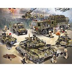 ราคาถูก -Building Blocks Block Minifigures Toy Playsets 256-1386 pcs Military ถัง เรือรบ ที่เข้ากันได้ Legoing การจำลอง รถทหาร Tank เครื่องบิน ทั้งหมด เด็กผู้ชาย เด็กผู้หญิง Toy ของขวัญ / ของเล่นการศึกษา