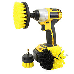 cheap -3-in-1 Electric Drill Brush Head Bathroom Surfaces Tub Shower Tile and Grout All Purpose Cleaning Kit