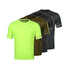 ราคาถูก -Arsuxeo สำหรับผู้ชาย useless สีพื้น สีดำ สีเขียวอ่อน อาร์มี่ กรีน เทาเข้ม วิ่ง การฝึกอบรมที่ใช้งานอยู่ เสื้อยึด Tops แขนสั้น กีฬา ชุดทำงาน Lightweight ระบายอากาศ แห้งเร็ว Sweat-wicking ผสมยางยืดไมโคร