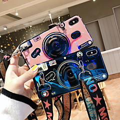 cheap -Case For Apple iPhone XS / iPhone XR / iPhone XS Max with Stand / Pattern Back Cover Cartoon Soft Silicone