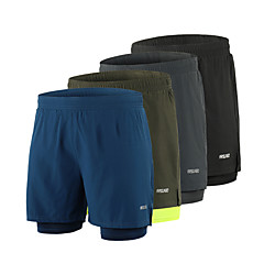 ราคาถูก -Arsuxeo สำหรับผู้ชาย useless กางเกงขาสั้นวิ่งด้วยเสื้อรัดรูป สแปนเด็กซ์ 2 ใน 1 ลายต่อ ที่เรียบง่าย กีฬา กางเกงขาสั้น ด้านล่าง วิ่ง มาราธอน การฝึกอบรมที่ใช้งานอยู่ วิ่งออกกำลังกาย / ผสมยางยืดไมโคร