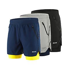 ราคาถูก -Arsuxeo สำหรับผู้ชาย useless กางเกงขาสั้นวิ่งด้วยเสื้อรัดรูป สแปนเด็กซ์ แยก 2 ใน 1 ลายต่อ กีฬา กางเกงขาสั้น ด้านล่าง วิ่ง การฝึกอบรมที่ใช้งานอยู่ วิ่งออกกำลังกาย ระบายอากาศ แห้งเร็ว แถบสะท้อนแสง