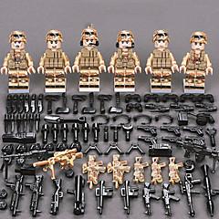 ราคาถูก -ENLIGHTEN Building Blocks Block Minifigures ของเล่นชุดก่อสร้าง ของเล่นการศึกษา 11 pcs Military นักรบ ปราสาท เด็กผู้ชาย เด็กผู้หญิง Toy ของขวัญ