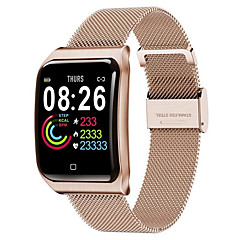 cheap -F9 Smartwatch Stainless Steel BT Fitness Tracker Support Notify & Heart Rate Monitor Compatible Apple/Samsung/Android Phones